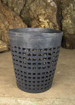 Вазон для орхидей пластиковый сетчатый, D 19 см, H 21 см