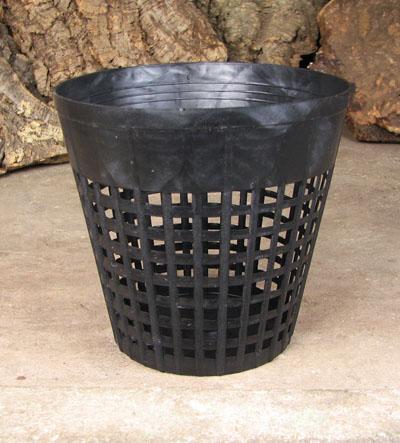 Вазон для орхидей пластиковый сетчатый, D 15 см, H 14 см