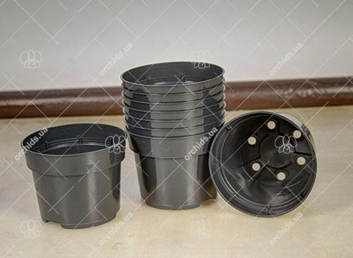 Вазон пластиковый D 10.5 см, H 8.1 см