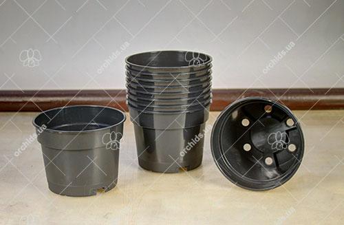 Вазон пластиковый D 12 см, H 9.2 см