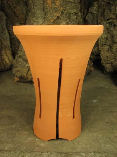Вазон для орхидей керамический цимбидиумный с блюдцем, D 15 см, H 25 см