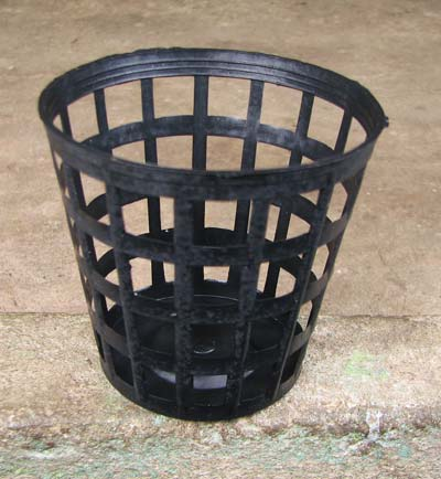 Вазон для орхидей пластиковый сетчатый, D 8 см, H 7.5 см