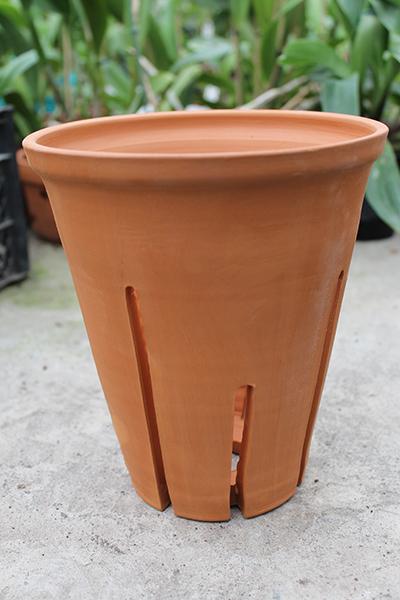 Вазон для орхидей керамический цимбидиумный, D 18 см, H 20 см