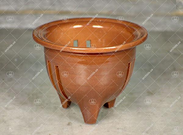 """Вазон для орхидей керамический """"Akebono"""", диаметр 8 см, высота 8 см"""