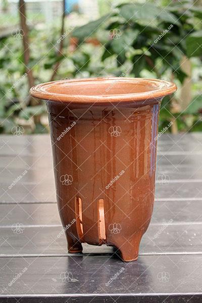 """Вазон для орхидей керамический """"Nikko"""", диаметр 12 см, высота 18 см"""