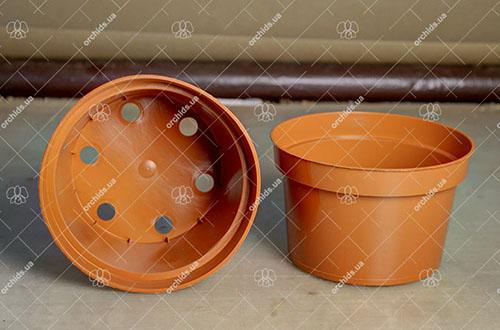 Вазон пластиковый D 14 см, H 9 см