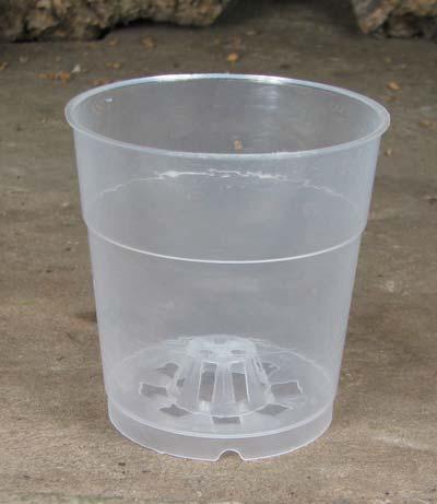 Вазон для орхидей пластиковый прозрачный с внутренним аэрационным конусом, D 9 см, H 9 см