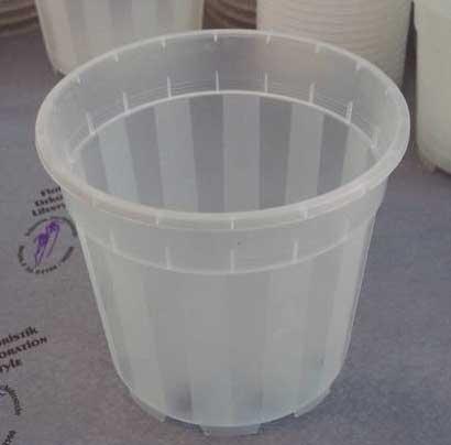 Вазон для орхидей пластиковый полупрозрачный, D 15 см, H 14 см
