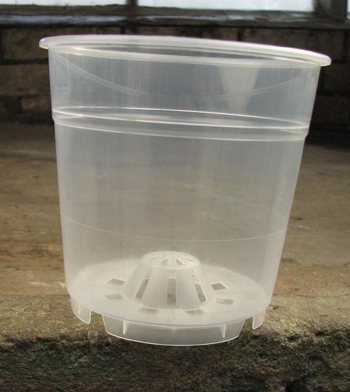 Вазон для орхидей пластиковый прозрачный с внутренним аэрационным конусом, D 12 см, H 11 см